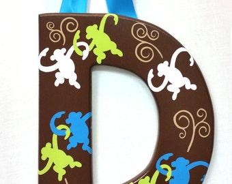 Wood Letter - Monkey by Larson Designs
