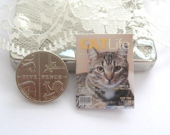 dollhouse magazine cat life   12th scale miniature