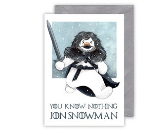 Game of Thrones Christmas Card - You Know Nothing Jon Snowman