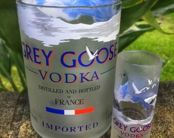 Grey Goose Rocks and Shot glass gift set
