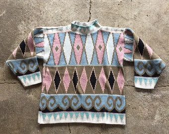 Vintage Oversized Ugly Abstract Sweater