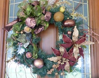 Elegant Christmas Wreath - Christmas Decorations - Christmas Wreaths - Wreaths - Holiday Door Decor