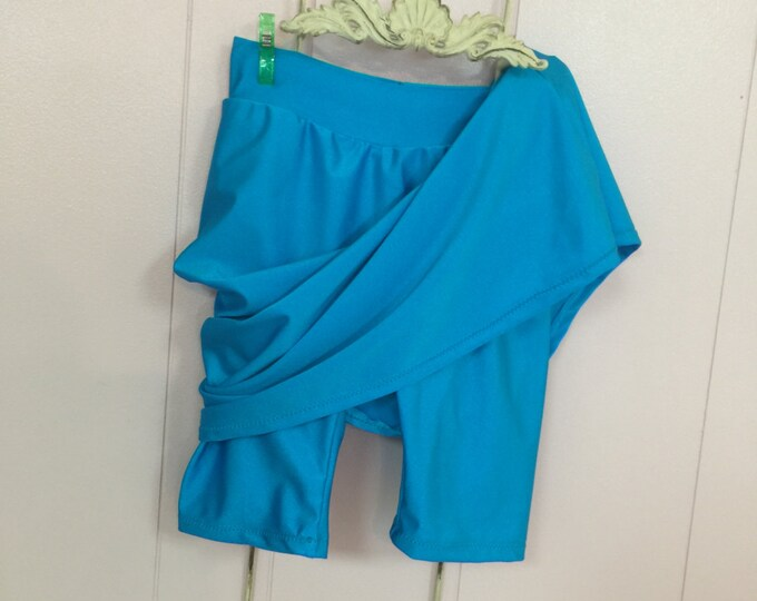 Girls Swim Skirt With Attached Shorts For Girls/Girls Skort/Girls Sizes/Please allow 3 -4 weeks for processing before shipment