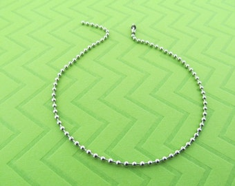 stainless steel ball chain anklet. avail in 9.5  and 10.5 inches