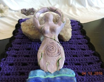 Goddess Statue for your Altar for Rituals, Sabbats Or to Place Any Where you Would Like To Make It A Sacred Space