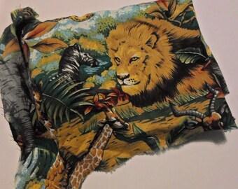 safari/jungle print cotton piece