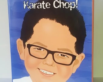 Gift for karate student, martial arts gift, personalized karate book, children personalized sport book, birthday gift for kids, gift idea