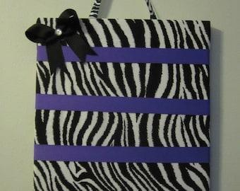 Zebra print Bow Holder