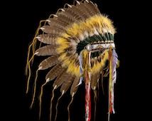 "Native American style feather headdress ""Mato Paha Warrior"""