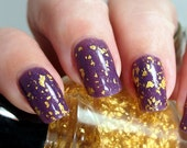 FANTASTIC! real 23k Gold leaf top coat nail polish by Painted Sabotage