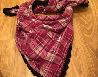 Black and Purple Blanket Scarf