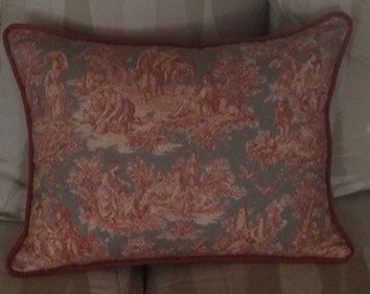 14c18in Life enchanted toile pillow cover
