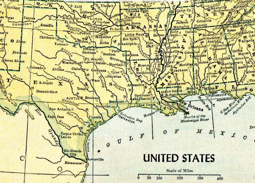 1949 Vintage United States Map Print Digital Download