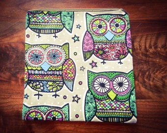 Owl Zipper Pouch Makeup Bag Organizer Travel Pouch