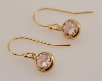 14k gold filled cubic zirconia earrings. 14K gold filled CZ earrings