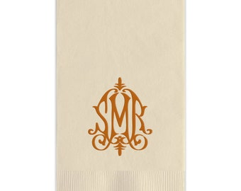 Whitlock Monogram Foil Stamped Paper Guest Towels