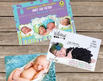 Birth Annoucement Custom Design