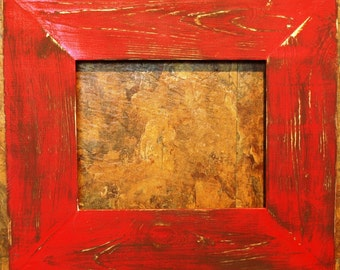 "F002 3-1/2"" Scarlet Distressed Picture Frame"