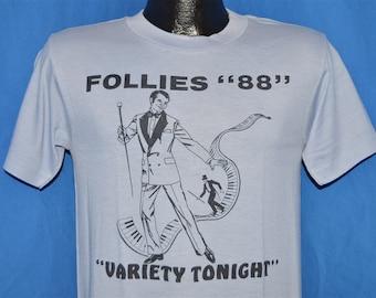 80s Follies Variety Tonight Show 1988 t-shirt Medium