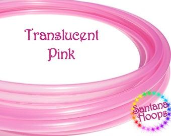 "3/4"" Translucent Pink Polypro Hula Hoop"