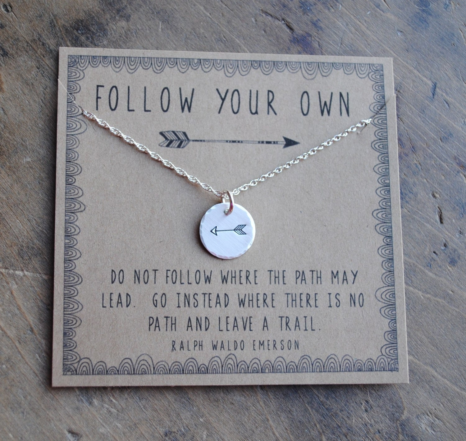 Follow Your Own Arrow Necklace personalized graduation . Tiny ...