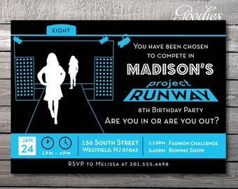 Fashion Show Party Invitation