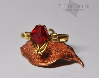 the legend of zelda goron ruby ring, adjustable ring size, zelda ring, goron ring, ocarina of time, gaming ring, nintendo jewelry, red stone