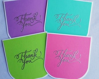 3x3 Mini Notecard Set/Thank You Mini Card Set/Thank You Cards