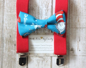 Bowtie & Suspenders- The Cat in the Hat