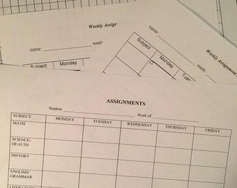 Homeschool/Education Report Forms - PDF