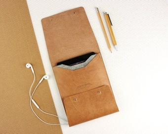 """Elegant Sleeve for iPad Air-Pro 9,7"""" of leather [V]"""