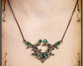 Sylph necklace - Handmade medieval necklace with swarovski