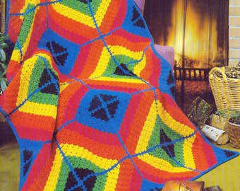 Beehive Afghans for you, Booklet 433, 12 Afghan Patterns to Knit and Crochet
