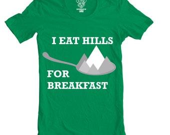 I Eat Hills Men's Bike Tee, T-Shirt, Available S-XXL