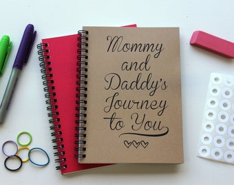 Mommy and Daddy's Journey to You -  5 x 7 journal