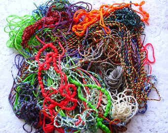 Corded Rosary Destash Lot - 1.5 pounds of partially completed corded rosaries (about 25 rosaries)