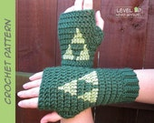 Triforce mitts CROCHET PATTERN || 6 sizes || Instant Download