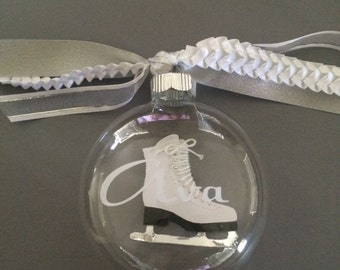 Personalized Ice Skating Ornament-Skating Ornament-Personalized Gift