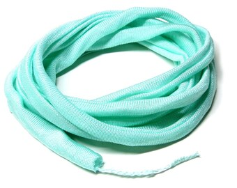 Silk Ribbon Elastic - Hand Dyed - Jersey -MINT
