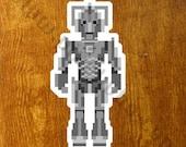 Pixel (8 bit) Doctor Who Cyberman Sticker