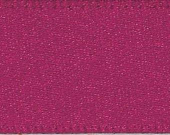 Berisford Wine Double Satin Ribbon - 25mm