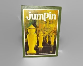 Vintage 1964 Jumpin Game, Complete, Two Player, Pawns, Book Shelf Game, Team Play, Strategy, Family Game Night