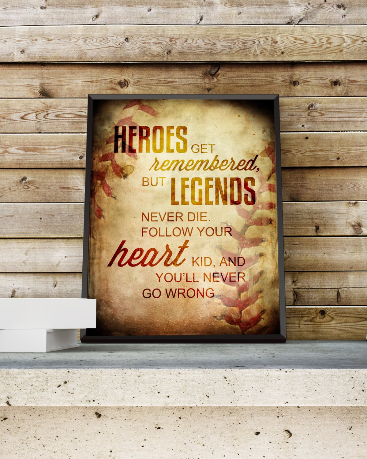 The Sandlot Quote Babe Ruth Word Art Print Movie Quote Gift Idea