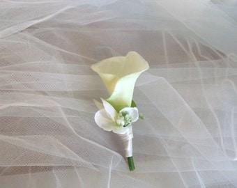 Wedding boutonniere etsy wedding boutonniere calla lily boutonniere groom boutoniere groom flower wedding corsage junglespirit Images