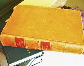 """Vintage 1920s Limited Edition Book  / Antique Book / Rare """"The Roman Empresses"""" by Jacques Boergas De Serviez / 1752  Volume 1  Leatherbound"""