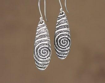 Artisan Sterling Silver Fossil Earrings – Calieri