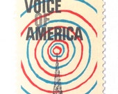 10 Unused 1967 Voice of America // Radio Waves - Vintage Postage Stamps for Mailing