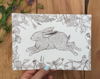 Hare poster A5 size