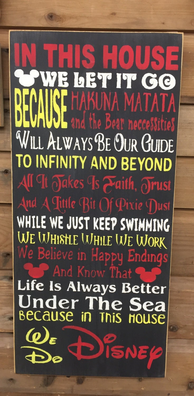 Baby Showers Rules ~ Disney house rules rustic sign nursery baby shower