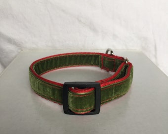20mm velvet house collar suitable for terriers, chiwawas, Italian greyhounds and other small dog breeds
